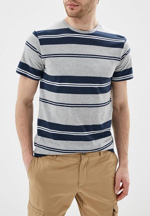 мужская футболка с коротким рукавом solid, серая