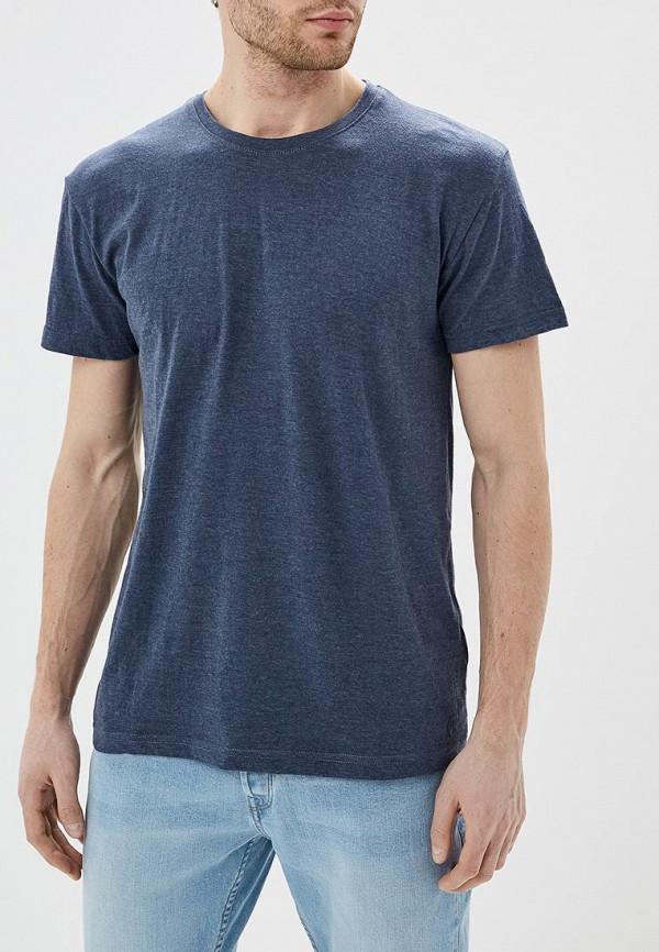 мужская футболка с коротким рукавом solid, синяя