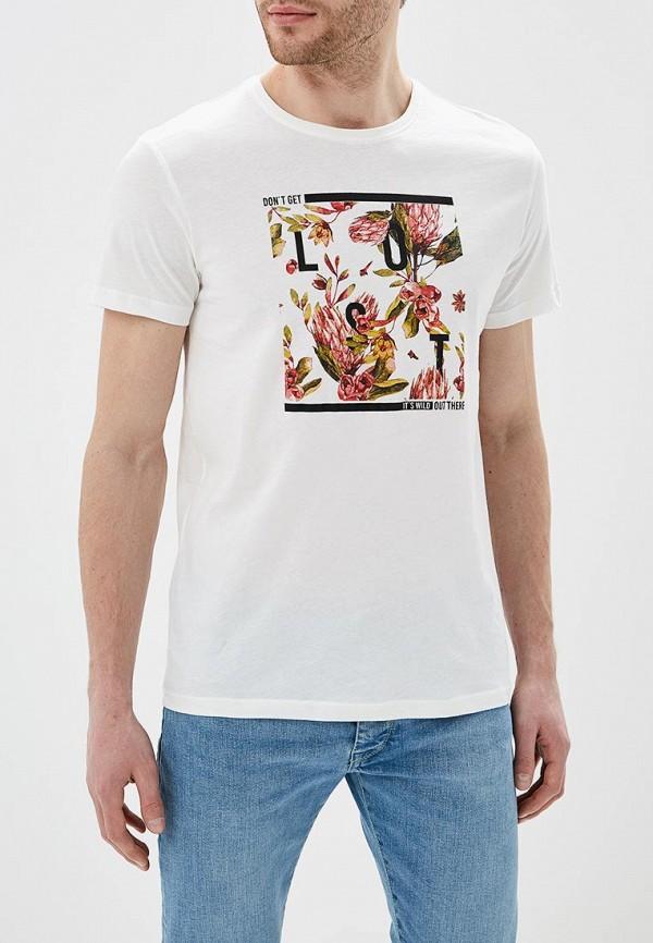 мужская футболка с коротким рукавом solid, белая
