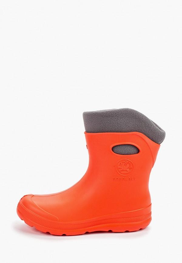 Фото - Резиновые полусапоги Speci.All оранжевого цвета