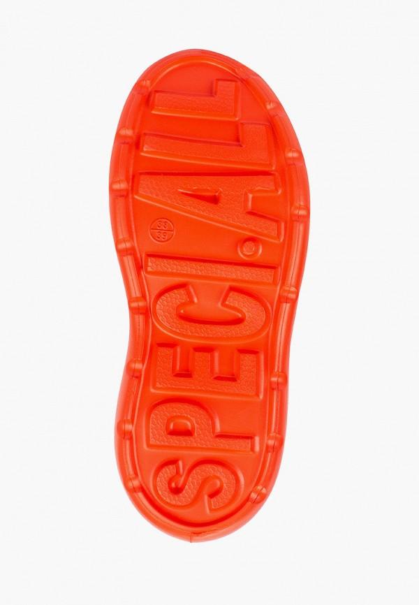 Фото 5 - Резиновые полусапоги Speci.All оранжевого цвета