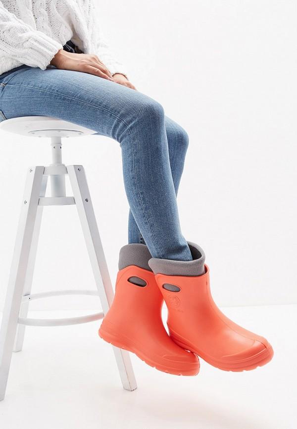Фото 7 - Резиновые полусапоги Speci.All оранжевого цвета
