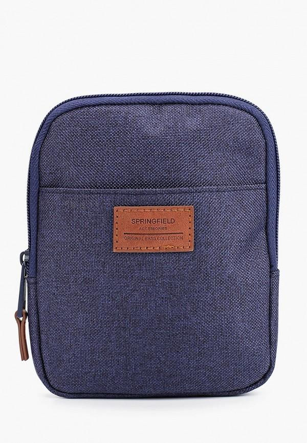 мужская сумка springfield, синяя