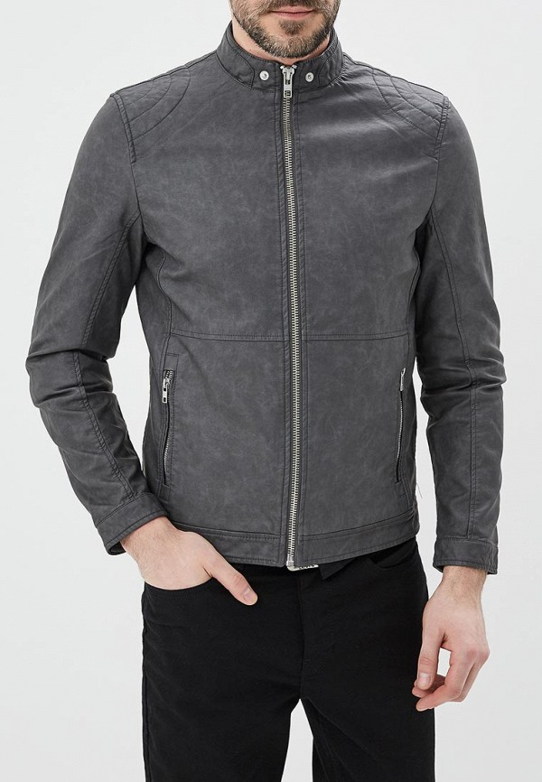 Куртка кожаная Springfield Springfield SP014EMAIKH1