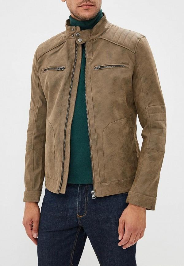Купить Куртка кожаная Springfield, SP014EMCDCB4, коричневый, Осень-зима 2018/2019