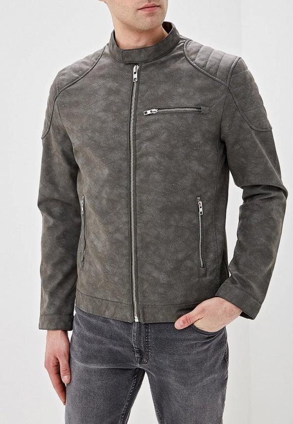 Купить Куртка кожаная Springfield, sp014emeabq4, серый, Весна-лето 2019