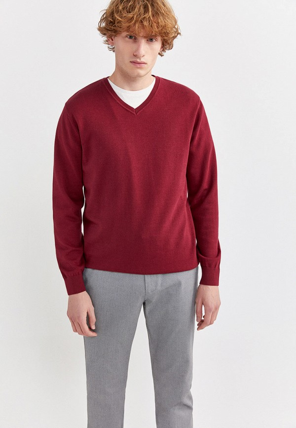 Фото - Пуловер Springfield бордового цвета