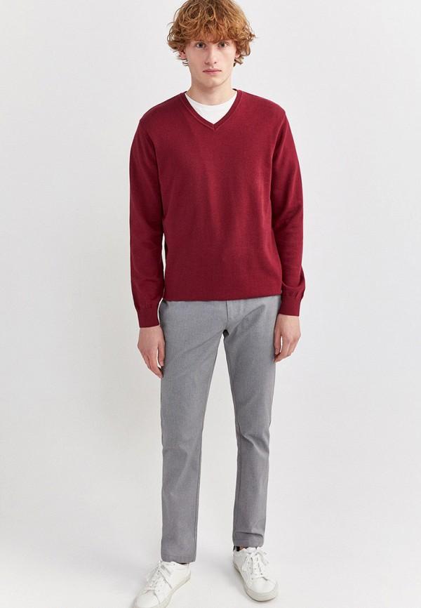 Фото 2 - Пуловер Springfield бордового цвета