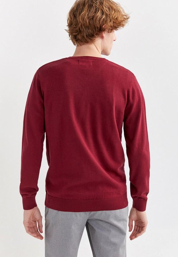 Фото 3 - Пуловер Springfield бордового цвета