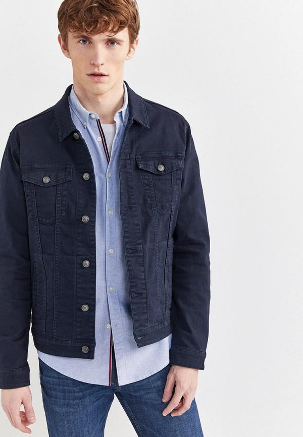 Фото - Куртку джинсовая Springfield синего цвета