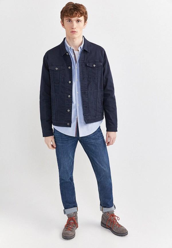 Фото 2 - Куртку джинсовая Springfield синего цвета