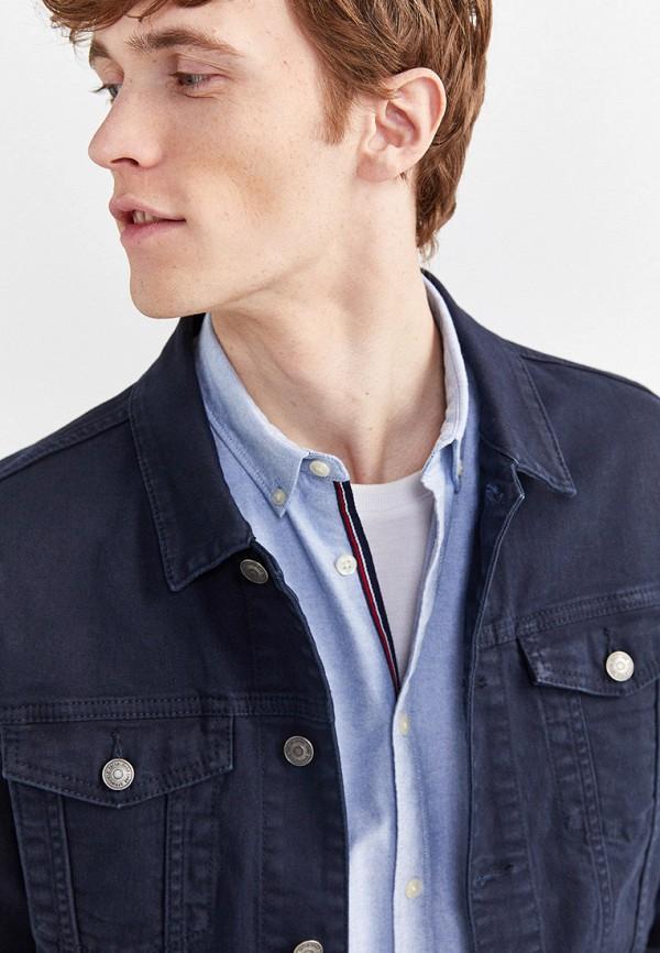 Фото 4 - Куртку джинсовая Springfield синего цвета