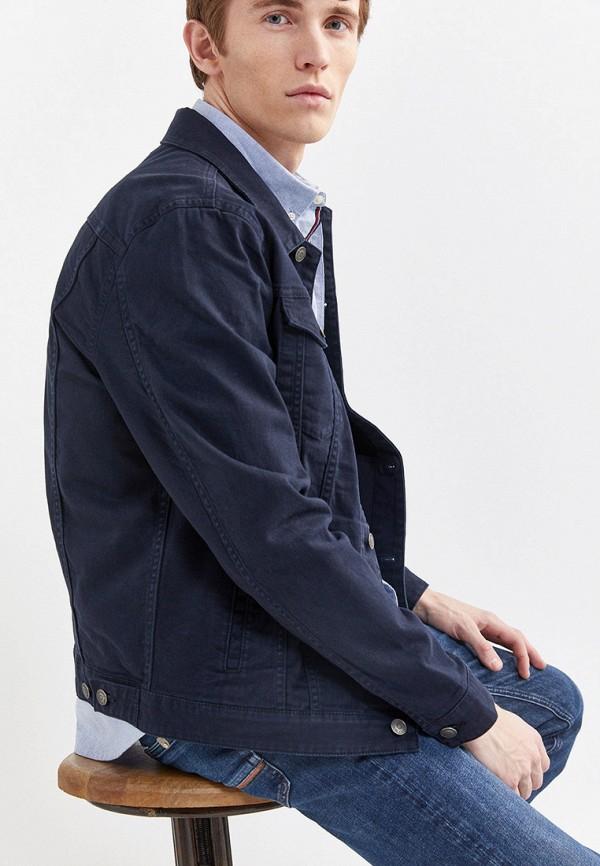 Фото 5 - Куртку джинсовая Springfield синего цвета