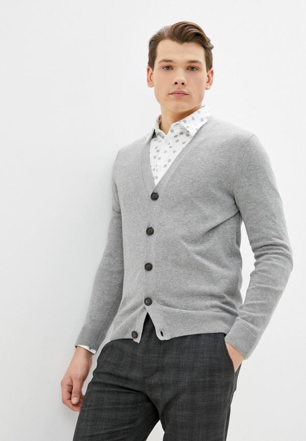 мужской кардиган springfield, серый