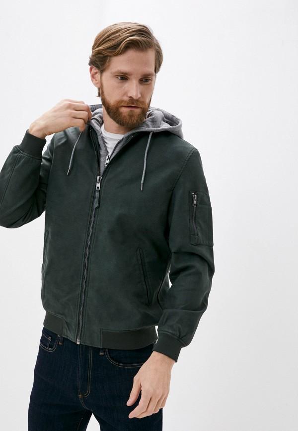 мужская куртка springfield, зеленая