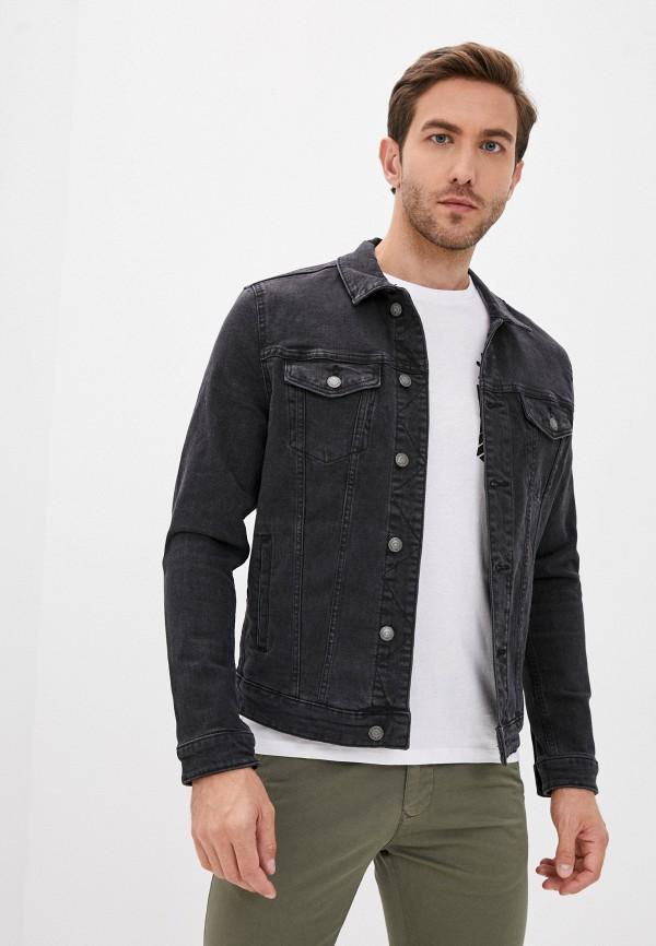 мужская джинсовые куртка springfield, черная