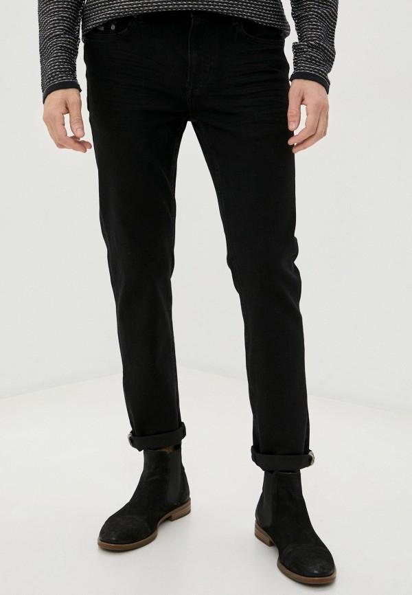мужские зауженные джинсы springfield, черные