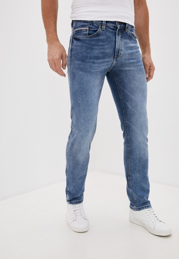 мужские зауженные джинсы springfield, голубые