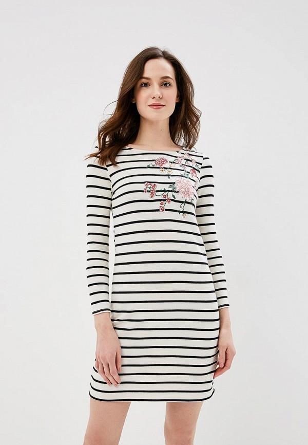 Купить Платье Springfield, SP014EWAGNF0, белый, Весна-лето 2018