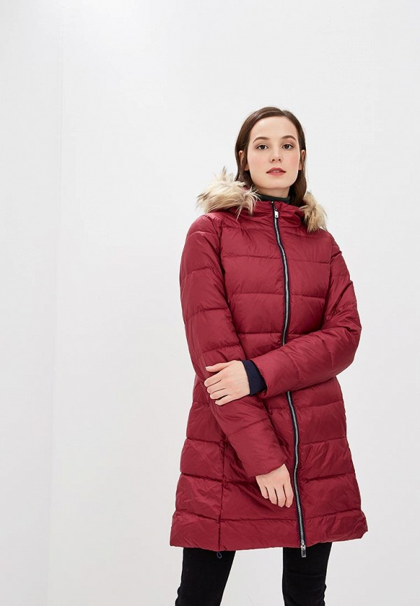 Купить Пуховик Springfield, SP014EWCDEU6, бордовый, Осень-зима 2018/2019