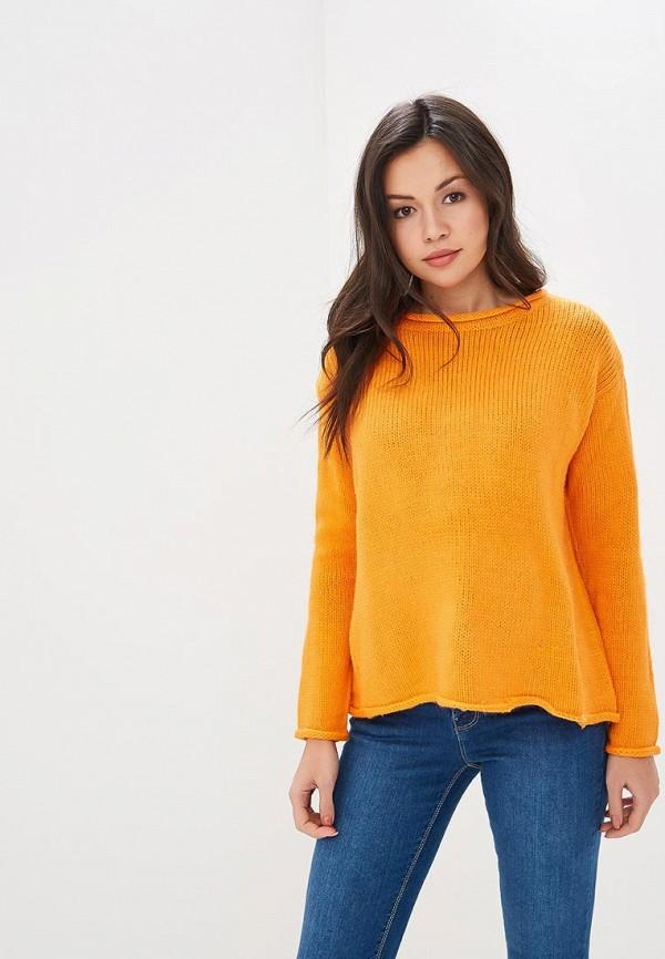 женский джемпер springfield, оранжевый