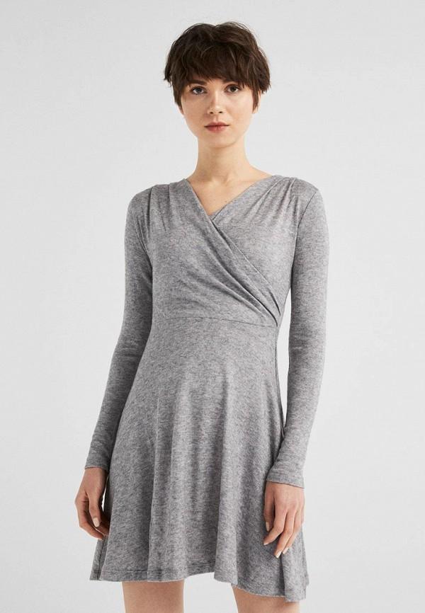 женское повседневные платье springfield, серое