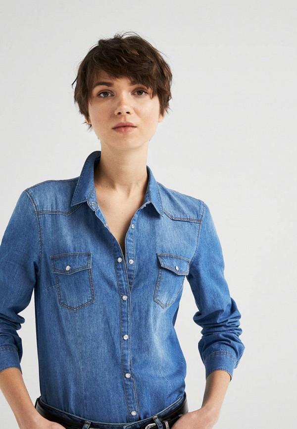 Рубашка джинсовая Springfield Springfield SP014EWEAIC0 рубашка springfield springfield sp014ewcden8