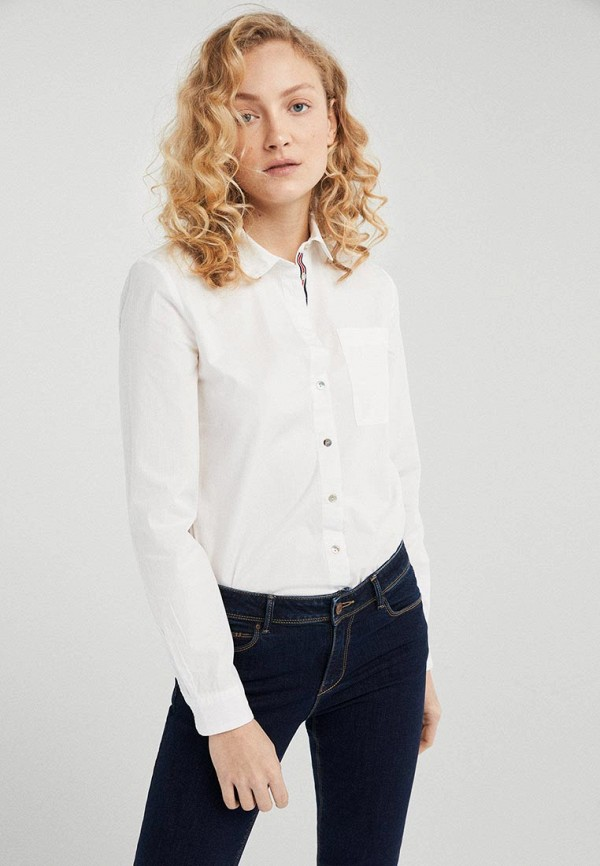 женская рубашка с длинным рукавом springfield, бежевая