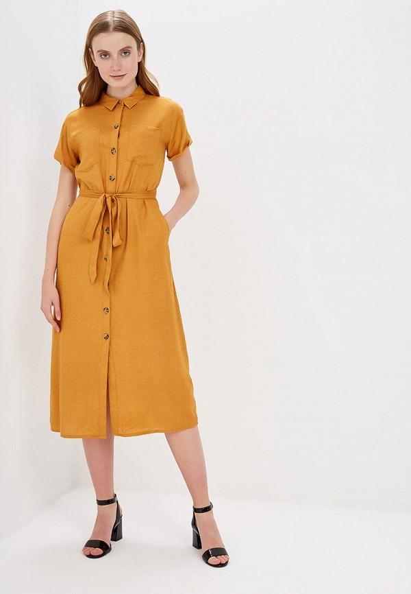 женское платье springfield, оранжевое