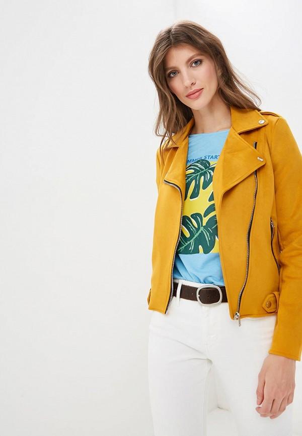 Куртка кожаная Springfield Springfield SP014EWEAIJ1 недорго, оригинальная цена