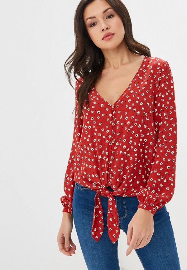 женская блузка springfield, красная