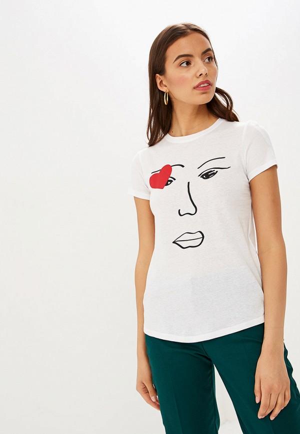 женская футболка springfield, белая