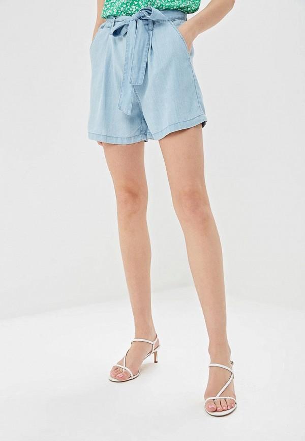 женские повседневные шорты springfield, голубые