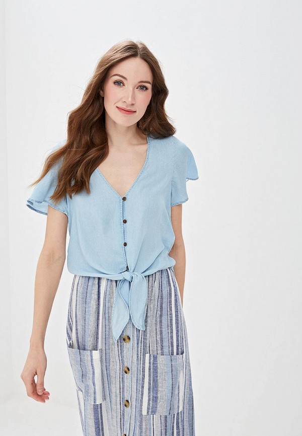 женская блузка springfield, голубая