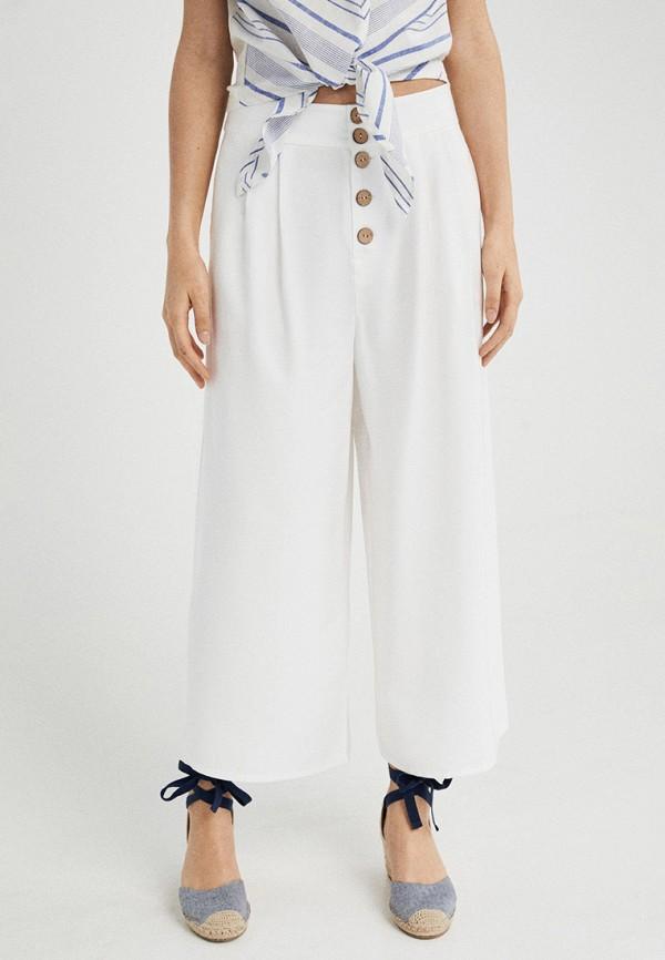 женские повседневные брюки springfield, белые