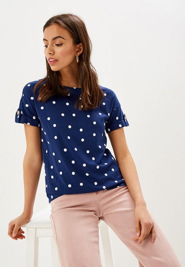 женская футболка springfield, синяя