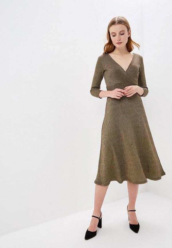 женское повседневные платье springfield, золотое