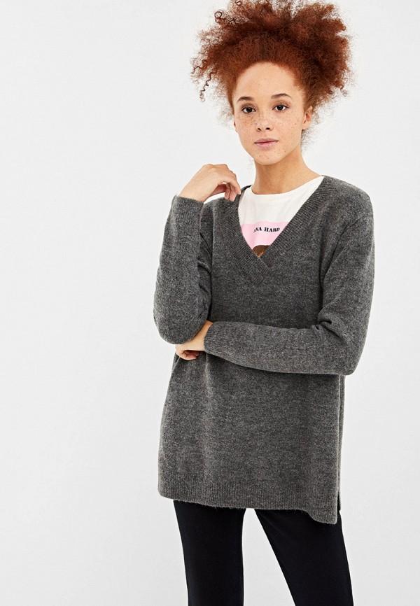 женский пуловер springfield, серый