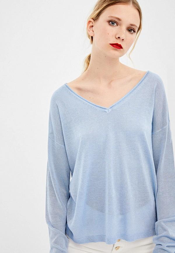 женский пуловер springfield, голубой