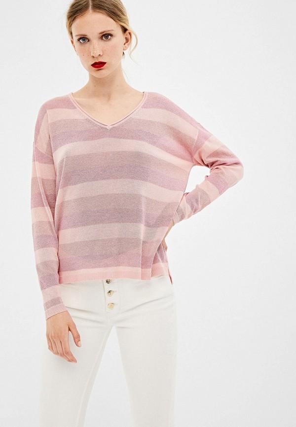 женский пуловер springfield, розовый