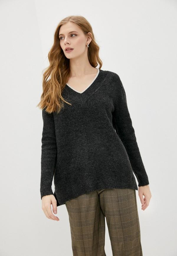 женский пуловер springfield, черный