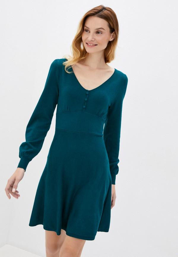 женское повседневные платье springfield, бирюзовое