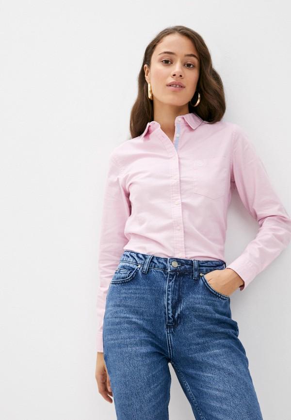 женская рубашка с длинным рукавом springfield, розовая