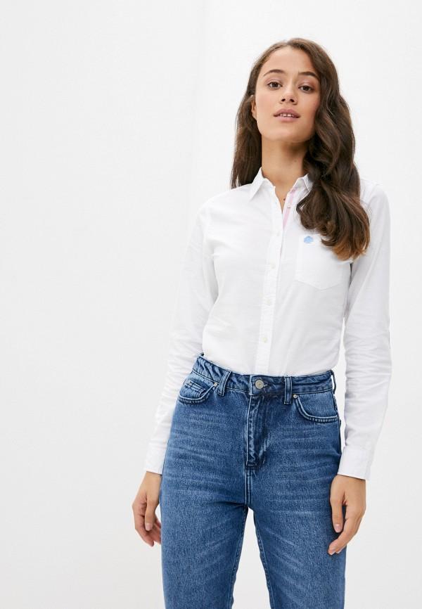 женская рубашка с длинным рукавом springfield, белая