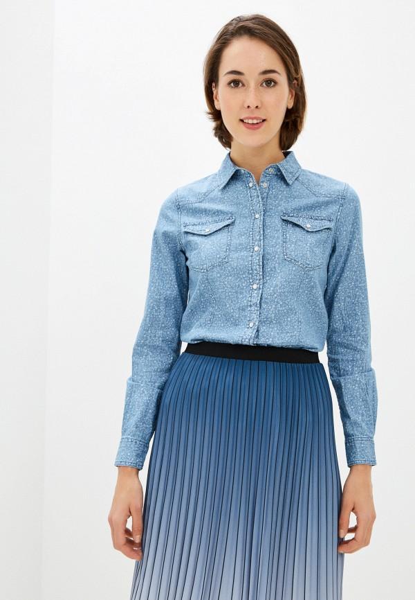 женская джинсовые рубашка springfield, голубая