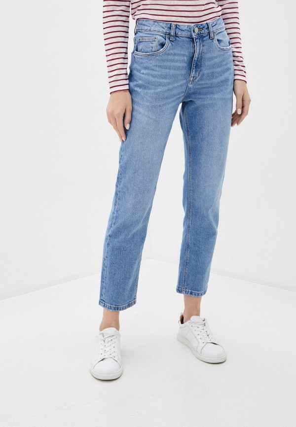 женские прямые джинсы springfield, голубые