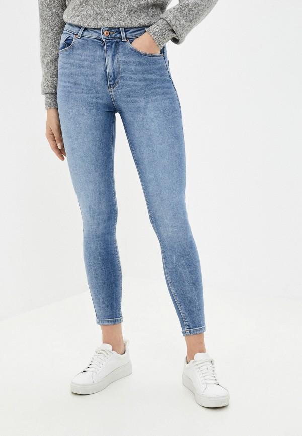 женские джинсы скинни springfield, голубые