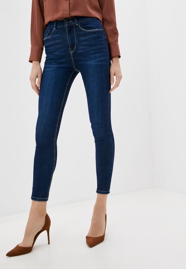 женские джинсы с высокой посадкой springfield, синие