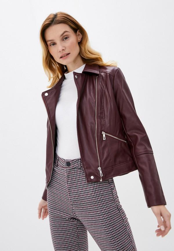женская куртка springfield, бордовая