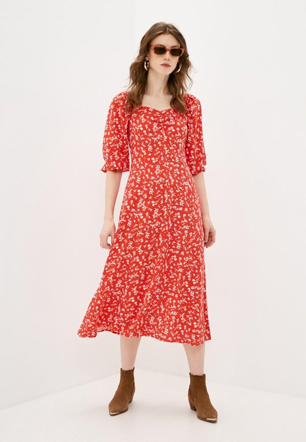 женское повседневные платье springfield, красное